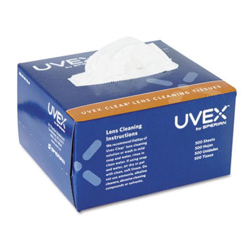 Honeywell Uvex Clear Lens Cleaning Tissues, 500/Box (UVX S462)