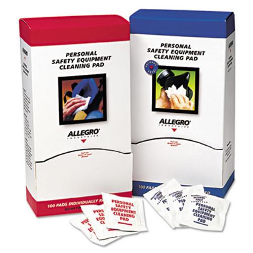 Allegro Respirator Cleaning Pads, 5 x 7, White, 100/Box (ALG1001)