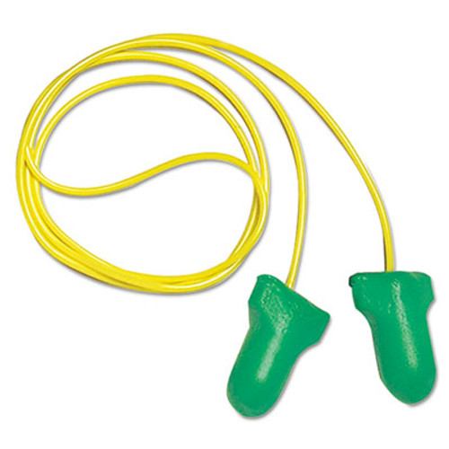 Howard Leight LPF-30 Max Lite Single-Use Earplugs, Corded, 30NRR, Green, 100 Pairs (HOW LPF30)