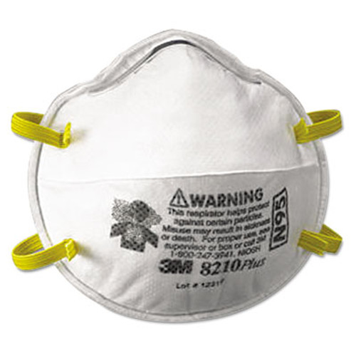 3M Particulate Respirator 8210Plus, N95, 20/Box (MCO 52924)