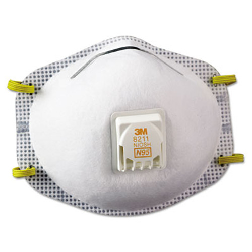 3M Particulate Respirator 8211, N95, 10/Box (MCO 52750)