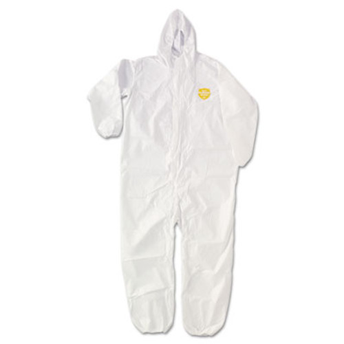 DuPont ProShield NexGen Elastic-Cuff Hooded Coveralls, White, 3X-Large, 25/Carton (DUP NG127SNP3X)