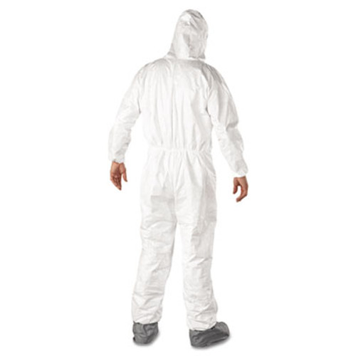 DuPont Tyvek Elastic-Cuff Hooded Coveralls w/Boots, White, 3X-Large, 25/Carton (DUP TY122S3XL)