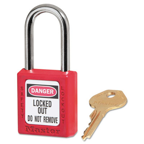 "Master Lock Government Safety Lockout Padlock, Zenex, 1 1/2"", Red, 1 Key, 6/Box (MAS 410RED)"