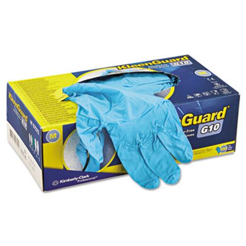 KleenGuard* G10 Blue Nitrile Gloves, Powder-Free, Blue, Medium, 100/Box (KCC 57372)