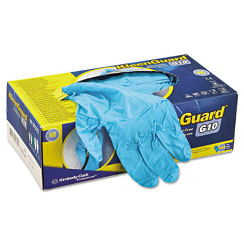 KleenGuard* G10 Blue Nitrile Gloves, Powder-Free, Blue, 242 mm Length, Medium, 100/Box (KCC 57372)