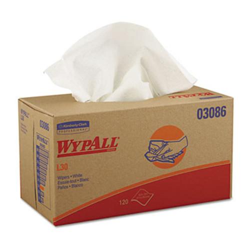 WypAll* L30 Towels, POP-UP Box, 10 x 9 4/5, White, 120/Box, 10 Boxes/Carton (KCC 03086)