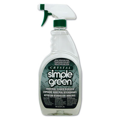 Simple Green Crystal Industrial Cleaner/Degreaser, 24oz Bottle, 12/Carton (SMP 19024)