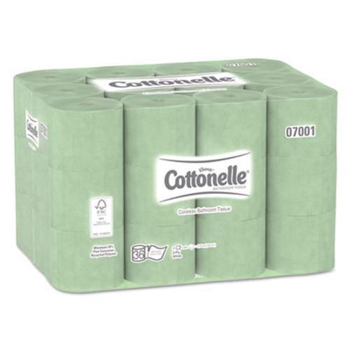 Cottonelle Two-Ply Coreless Bathroom Tissue, 36 Rolls/Carton (KCC 07001)