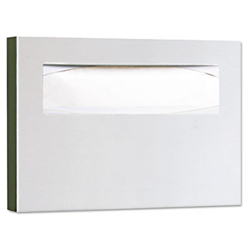 Bobrick Stainless Steel Toilet Seat Cover Dispenser, 15 3/4 x 2 x 11, Satin Finish (BOB 221)
