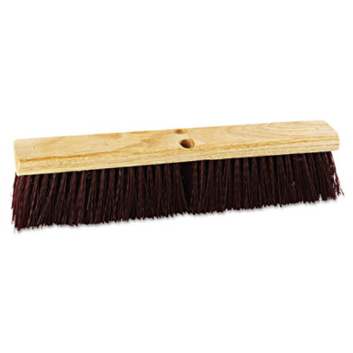 "Boardwalk Floor Brush Head, 18"" Wide, Maroon, Heavy Duty, Polypropylene Bristles (BWK 20318)"