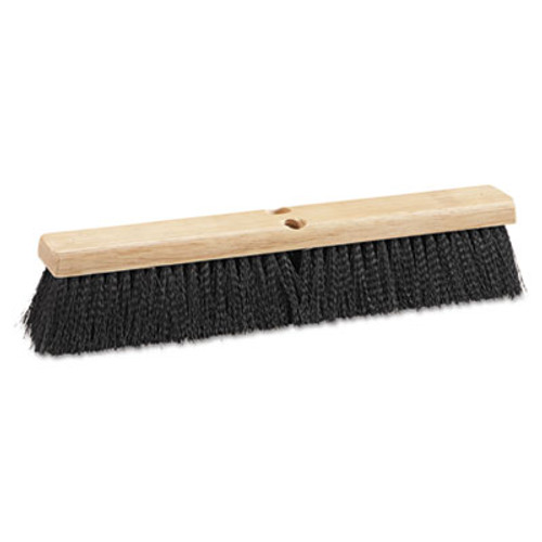 "Boardwalk Floor Brush Head, 18"" Wide, Black, Medium Weight, Polypropylene Bristles (BWK 20618)"