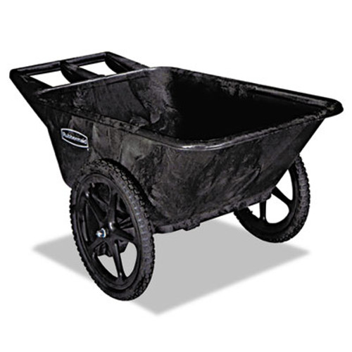 Rubbermaid Big Wheel Agriculture Cart, 300-lb Cap, 32-3/4 x 58 x 28-1/4, Black (RCP 5642 BLA)