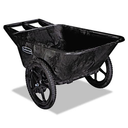 Rubbermaid Big Wheel Agriculture Cart, 300-lb Cap, 32-3/4 x 58 x 28-1/4, Black (RCP 5642 BLA)