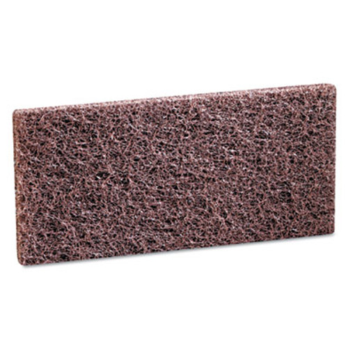 3M Doodlebug Scrub 'n Strip Pad, 4 5/8 x 10, Brown, 20/Carton (MCO 08004)