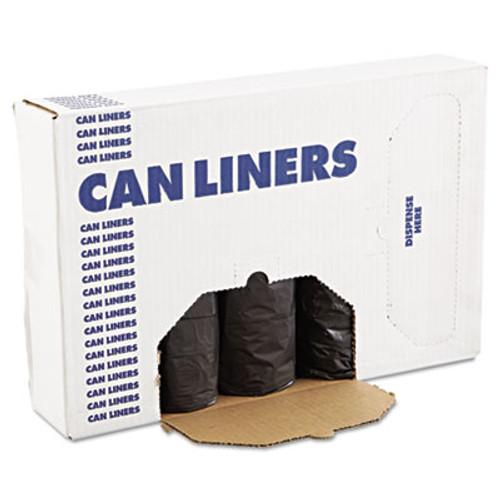 Boardwalk Low-Density Can Liners, 60gal, .65mil, 38 x 58, Black, 25 Bags/Roll, 4 Rolls/CT (BWK 3858H)