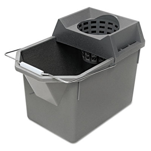 Rubbermaid Pail/Strainer Combination, 15qt, Steel Gray (RCP 6194 STL)