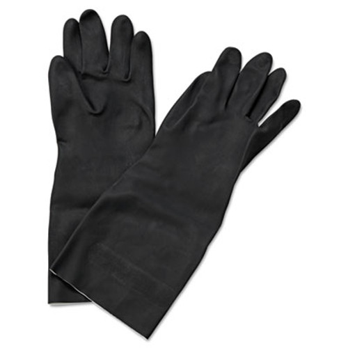 "Boardwalk Neoprene Flock-Lined Gloves, Long-Sleeved, 12"", Large, Black, Dozen (BWK 543L)"