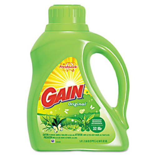 Gain Liquid Laundry Detergent, Original, 50oz Bottle, 6/Carton (PGC 12784)