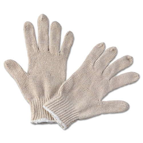 Boardwalk String Knit General Purpose Gloves, Large, Natural, 12 Pairs (BWK 782)