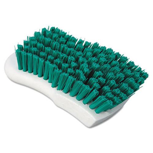 "Boardwalk Scrub Brush, Green Polypropylene Fill, 6"" Long, White (BWK FSCBGRN)"