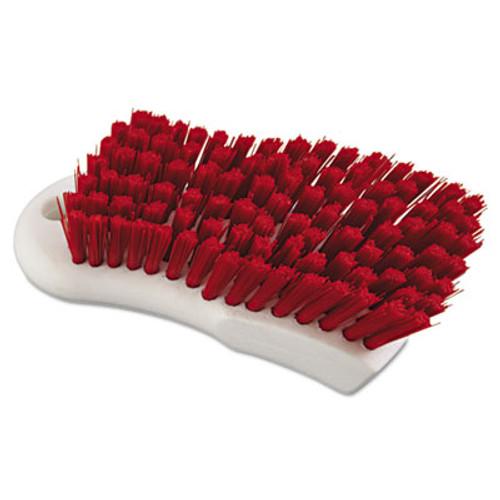 "Boardwalk Scrub Brush, Red Polypropylene Fill, 6"" Long, White (BWK FSCBRD)"