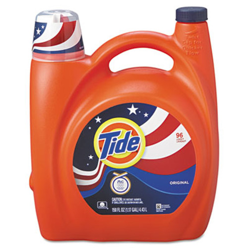 Tide Ultra Liquid Laundry Detergent, Original, 150 oz Pump Dispenser, 4/Carton (PGC 23064)