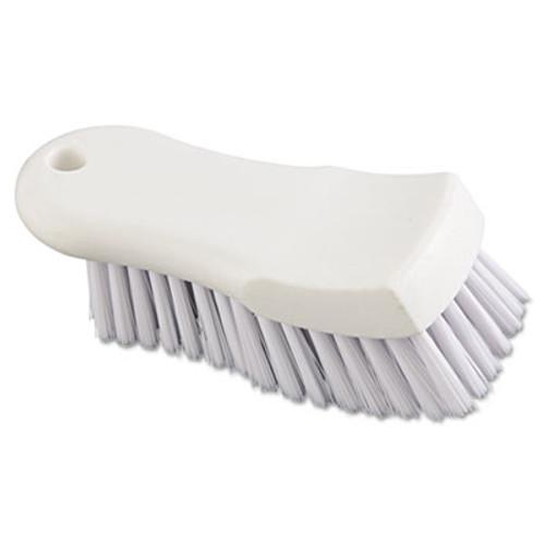 "Boardwalk Scrub Brush, White Polypropylene Fill, 6"" Long, White (BWK FSCBWH)"