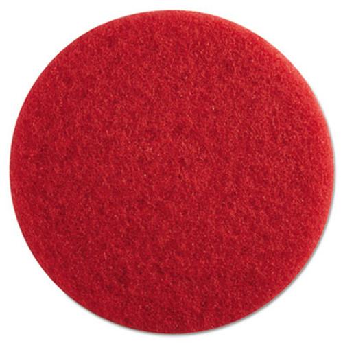 "Boardwalk Standard Floor Pads, 13"" Diameter, Red, 5/Carton (PAD 4013 RED)"