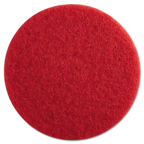 "Boardwalk Standard Floor Pads, 13"" Diameter, Red, 5/Carton (PAD 4013 RED)"