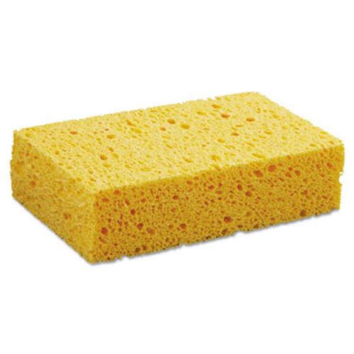 "Boardwalk Medium Cellulose Sponge, 3 2/3 x 6 2/25"", 1.55"" Thick, Yellow, 24/Carton (PAD CS2)"