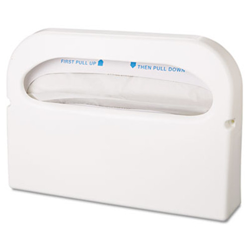 HOSPECO Health Gards Seat Cover Dispenser, 1/2-Fold, White, 16x3.25x11.5, 2/Bx, 6 Bx/Ct (HOS HG-1-2)