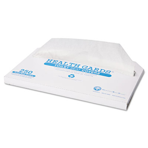 HOSPECO Health Gards Toilet Seat Covers, Half-Fold, White, 250/Pack, 4 Packs/Carton (HOS HG-2500)
