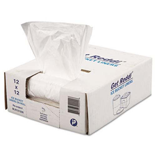 Inteplast Group Ice Bucket Liner, 12 x 12, 3qt, .24mil, Clear, 1000/Carton (IBS BLR121206)