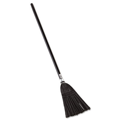 """Rubbermaid Lobby Pro Synthetic-Fill Broom, 37 1/2"""" Height, Black (RCP 2536)"""