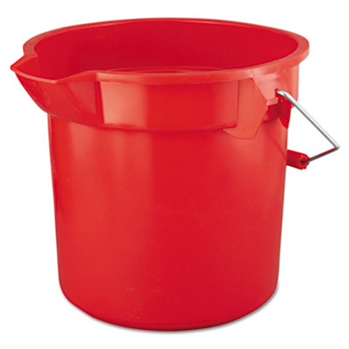 Rubbermaid BRUTE Round Utility Pail, 14qt, Red (RCP 2614 RED)