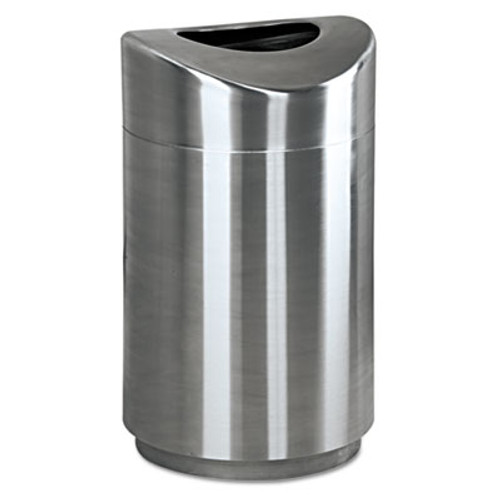 Rubbermaid Eclipse Open Top Waste Receptacle, Round, Steel, 30gal, Stainless Steel (RCP R2030SSPL)