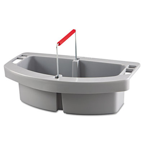 Rubbermaid Maid Caddy, 2-Comp, 16w x 9d x 5h, Gray (RCP 2649 GRA)