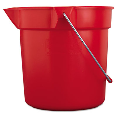 Rubbermaid BRUTE Round Utility Pail, 10qt, Red (RCP 2963 RED)