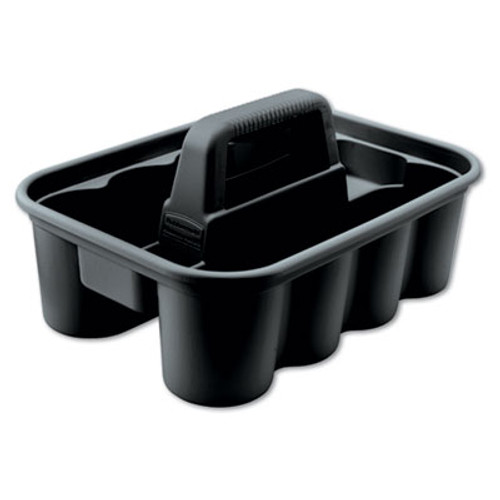 Rubbermaid Deluxe Carry Caddy, 8-Comp, 15w x 7 2/5h, Black (RCP 3154-88 BLA)