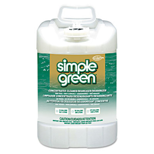 Simple Green Industrial Cleaner & Degreaser, Concentrated, 5 gal, Pail (SMP 13006)