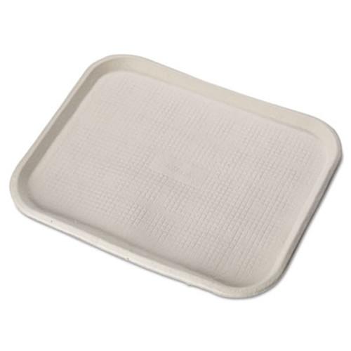 Chinet Savaday Molded Fiber Food Trays, 14 x 18, White, Rectangular, 100/Carton (HUH FARM)