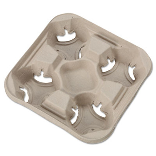 Chinet StrongHolder Molded Fiber Cup Trays, 8-32oz, Four Cups, 300/Carton (HUH FLIGHT)