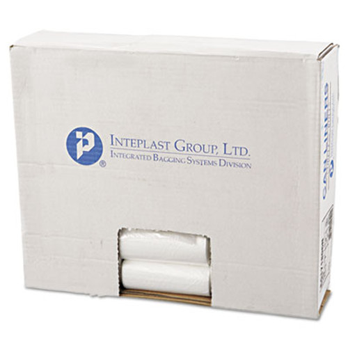 Inteplast Group Perforated High-Density Can Liners, 17 x 18, 4gal, 6mic, Clear, 50/RL, 40 RL/CT (IBS EC171806N)