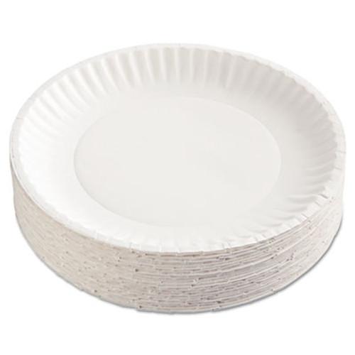 "AJM Packaging Corporation Paper Plates, 9"" Diameter, White, 100/Pack, 12 Packs/Carton (AJMPP9GRAWH)"