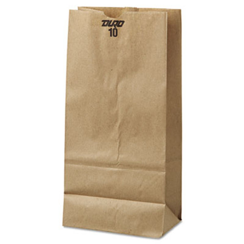 General #10 Paper Grocery Bag, 35lb Kraft, Standard 6 5/16 x 4 3/16 x 13 3/8, 500 bags (BAG GK10-500)