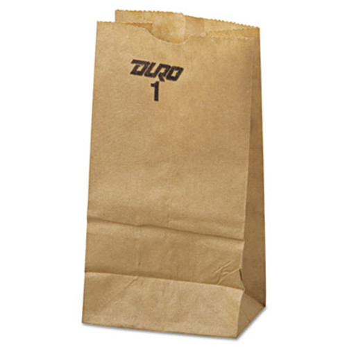 General #1 Paper Grocery Bag, 30lb Kraft, Standard 3 3/8 x 2 1/8 x 6 3/8, 500 bags (BAG GK1-500)