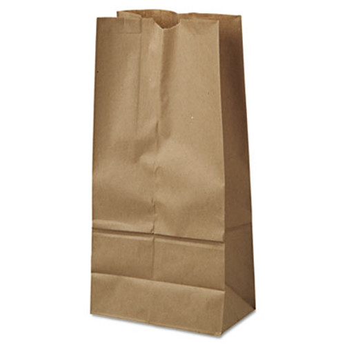 General #16 Paper Grocery Bag, 40lb Kraft, Standard 7 3/4 x 4 13/16 x 16, 500 bags (BAG GK16-500)
