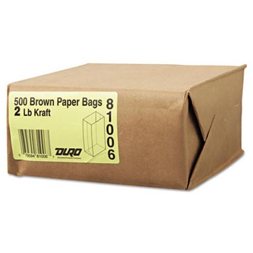 General #2 Paper Grocery Bag, 30lb Kraft, Standard 4 5/16 x 2 7/16 x 7 7/8, 500 bags (BAG GK2-500)