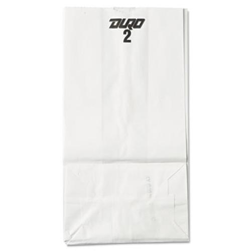 General #2 Paper Grocery Bag, 30lb White, Standard 4 5/16 x 2 7/16 x 7 7/8, 500 bags (BAG GW2-500)